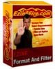 Thumbnail Ezine Filter And Format Software With PLR