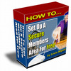 Thumbnail Secure Members Area With PLR